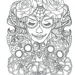 Sugar Skull Pictures to Color Excellent Cool Sugar Skull Coloring Pages Ideas