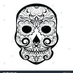 Sugar Skull Pictures to Color Inspiration Blank Sugar Skull Template