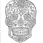Sugar Skull Pictures to Color Inspiration Day Of the Dead Adult Coloring Page original Hand Drawn Art In Black