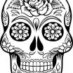 Sugar Skull Pictures to Color Inspired Unique Roses and Skulls Coloring Pages – C Trade