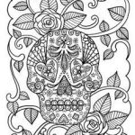 Sugar Skull Pictures to Color Inspiring 487 Best Skull Coloring Images In 2019