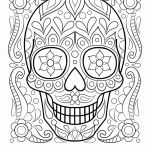 Sugar Skull Pictures to Color Wonderful Funny Drawings and Make People Smile Coloring Page 2019