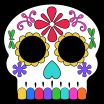 Sugar Skull Print Outs Awesome Day Of the Dead Masks Sugar Skulls Free Printable Paper Trail Design