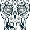 Sugar Skull Printable Creative Lovely Sugar Candy Skulls Coloring Pages – Doiteasy