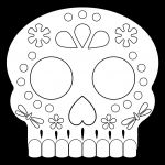 Sugar Skull Template Printable Amazing Day Of the Dead Masks Sugar Skulls Free Printable Paper Trail Design