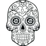 Sugar Skull Template Printable Awesome Pirate Skull Drawing