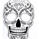Sugar Skull Template Printable Brilliant Five Different Sugar Skull Tattoo Coloring Pages Printable Digital