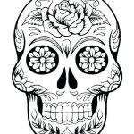 Sugar Skull Template Printable Creative Candy Skull Template