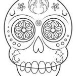 Sugar Skull Template Printable Excellent 15 Best Sugar Skull Coloring Pages Images In 2016