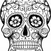 Sugar Skull Template Printable Excellent C³digo C 028 Coloring