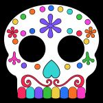 Sugar Skull Template Printable Exclusive Day Of the Dead Masks Sugar Skulls Free Printable Paper Trail Design