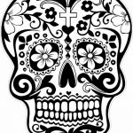Sugar Skull Template Printable Inspiration Coloring Pages Dazzling Day Of the Dead Coloring Pages Picture
