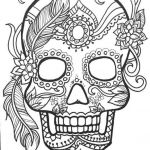 Sugar Skull Template Printable Inspiring Collection Of Printable Sugar Skull Pumpkin Stencil 31 Images In