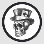 Sugar Skull top Hat Inspiration Skull tophat Gifts On Zazzle