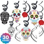 Sugar Skull top Hat Inspired Day Of the Dead Decorations & Supplies Day Of the Dead Skulls