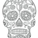 Sugar Skulls Coloring Book Amazing Coloring Page Day the Mandala Coloring Pages Copy Adult Skull