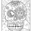 Sugar Skulls Coloring Book Inspiration 79 Best Skull Coloring Pages Images In 2019