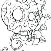 Sugar Skulls Coloring Book Marvelous Beautiful Skull Candy Coloring Pages Nocn