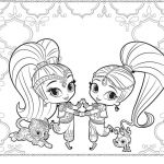 Sumer Coloring Pages Inspired 23 Shimmer and Shine Coloring Pages Collection Coloring Sheets