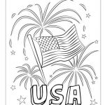 Summer Coloring Pages Free Printable Inspired Happy Fourth Usa Fireworks Coloring Page Free Printable