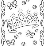 Summer Coloring Pages Unique New Princess with Crown Coloring Page – Fym
