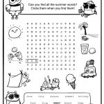 Summer Vacation Coloring Page Beautiful Summer Word Search Summer Activity Sheets