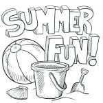 Summer Vacation Coloring Page Exclusive Summer Pictures Coloring Sheet – Muzikantufo