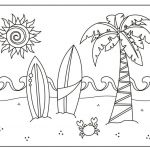 Summer Vacation Coloring Page Inspiration 243 Summer Coloring Pages for Kids