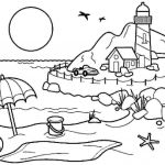 Summer Vacation Coloring Page Pretty Coloring Pages Summer Season Pictures for Kids Drawing Free