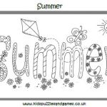 Summer Vacation Coloring Page Pretty the Word Summer Coloring Page Really Encourage Better Free Printable