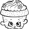 Super Coloring Pages New Cupcake Petal Shopkin Coloring Page