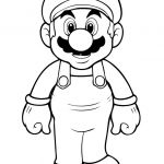 Super Mario Coloring Book Awesome Free Printable Mario Coloring Pages for Kids Deep thought
