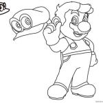 Super Mario Coloring Page Best Mario Odyssey Coloring Pages at Getcolorings