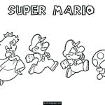 Super Mario Coloring Pages Exclusive Super World Coloring Pages Page 1 Kids Mario Line Free S – Virging