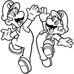 Super Mario Coloring Pages Wonderful Super Brothers Coloring Pages Best Bros Printable Line O D