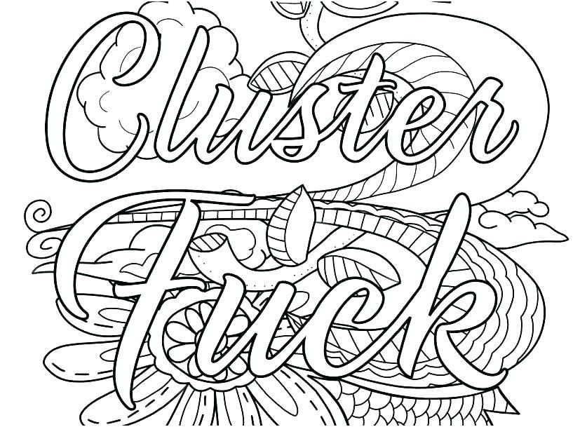 Coloring Pages Printable Free Swear Word Curse Pdf Cuss Swea – betterfor