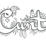 Swear Word Coloring Pages Wonderful Swearing Coloring Pages at Getdrawings