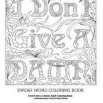 Sweary Coloring Pages Beautiful √ Word Coloring Pages for Adults or Inspirational Coloring Pages