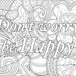 Tattoo Design Coloring Pages Inspired Don T Worry Be Happy Quotes Adult Coloring Pages