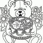 Teddy Bear Coloring Pages Free Printable Amazing Category Coloriage 40