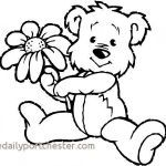 Teddy Bear Coloring Pages Free Printable Amazing Teddy Bear Coloring Page Lovely Teddy Bear Coloring Page New Kawaii
