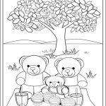 Teddy Bear Coloring Pages Free Printable Brilliant Fun Teddy Bear Picnic Colouring Page for Kids Print and Colour