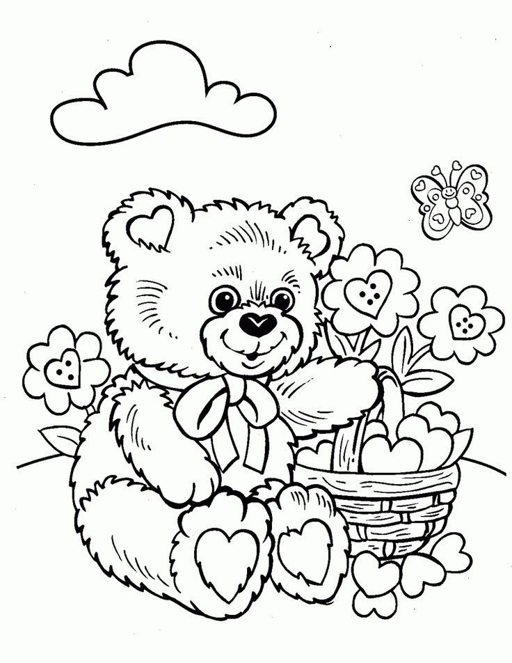 Teddy Bear Coloring Pages Free Printable Elegant Crayola Adult Coloring Pages at Getdrawings