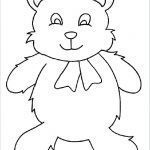 Teddy Bear Coloring Pages Free Printable Inspiration Template Teddy Bear – northma Bfo