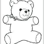 Teddy Bear Coloring Pages Free Printable Pretty Teddy Bear Template Printable – Campzablacefo