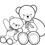 Teddy Bears Coloring Page Inspired Teddy Bear Big Teddy Bear and Smaller Teddy Bear Coloring Page