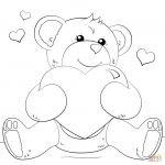 Teddy Bears Coloring Pages to Print Elegant Heart Drawing Pages at Paintingvalley