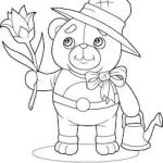 Teddy Bears Coloring Pages to Print Elegant Teddy Bear Drawing Stock S & Vectors