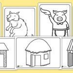 Teddy Bears Coloring Pages to Print Inspiration Free the Three Little Pigs Colouring Sheets the Three Little Pigs