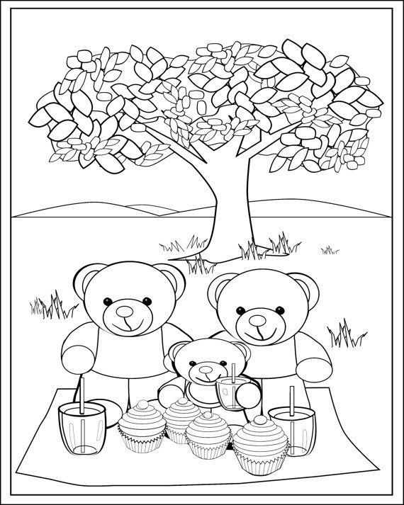 Teddy Bears Coloring Pages to Print Inspirational Fun Teddy Bear Picnic Colouring Page for Kids Print and Colour